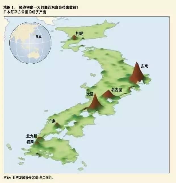 日本房地产人口密度,每平方公里产出