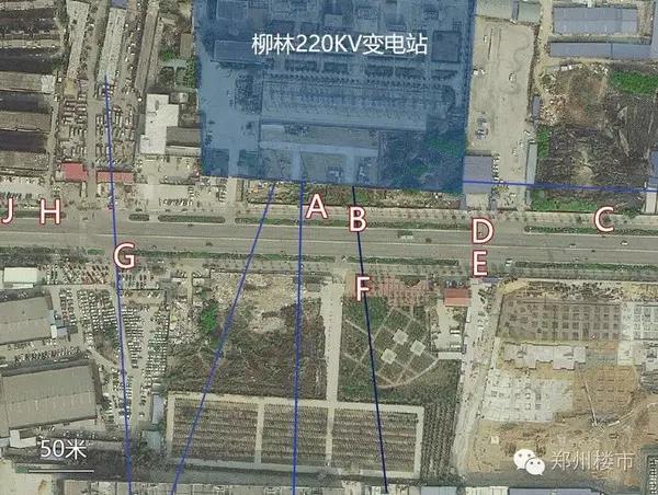 柳林220kV变电站卫星位置图